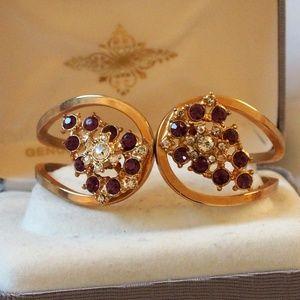 Stunning Vintage Rhinestone Clamper Bracelet